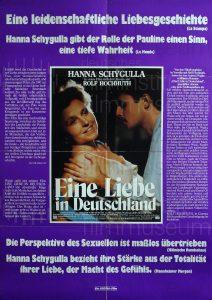 Filmplakat Eine Liebe in Deutschland 02