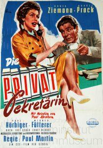 Filmplakat Die Privatsekretärin