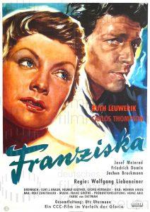 Filmplakat Auf Wiedersehen, Franziska!