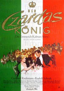 Filmplakat Der Czardas-König