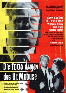 Filmplakat Die 1000 Augen des Dr. Mabuse