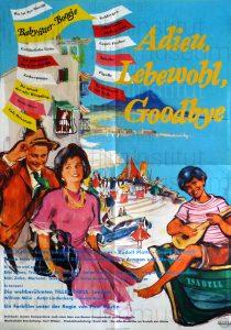 Filmplakat Adieu, Lebewohl, Goodbye 02