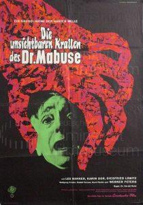 Filmplakat Die unsichtbaren Krallen des Dr. Mabuse