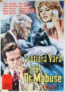 Filmplakat Scotland Yard jagt Dr. Mabuse