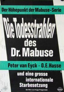 Filmplakat Die Todesstrahlen des Dr. Mabuse 02