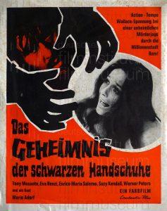 Filmplakat Das Geheimnis der schwarzen Handschuhe 02