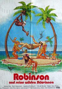 Filmplakat Robinson und seine wilde Sklavinnen
