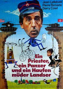 Filmplakat Ein Priester, ein Panzer und ein Haufen müder Landser